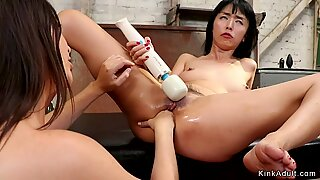 Lesbian Milf anal fists young Asian