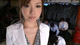 Raucous gangbang delight for asian sweetheart