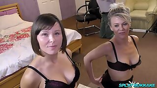 English dolls Bree Branning and Jamie Ray enjoy mass ejaculation party facials