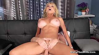 Busty blonde gets the girl old cunt banged