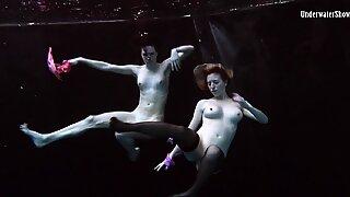 Underwater hot girls swimming naked