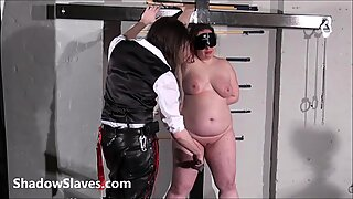 Bullwhipped bbw masochist Nimues spanking to tears